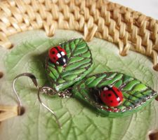 cute ladybug earrings by SMAfactory