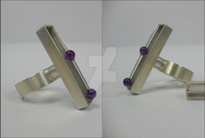 Movers and Spinners 2 Gem Sterling Silver Ring by Hannah-Marie