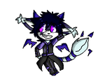 Comm 7 Bryce the demon wolf by JulliApple