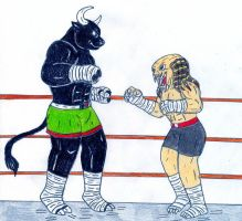 Batista vs Anubis - Muay Thai by Jose-Ramiro