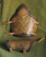 Leather Elven Bracers by Fantasy-Craft
