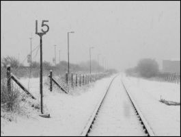 Snow on the line by Princess-Amy
