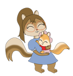 Point Commission - Vinny and Baby Alvin by Bokeol