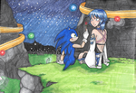 Commission Sonic and Aqua by AngelicDragonElf