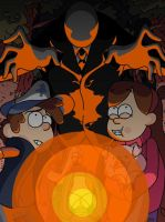 Gravity Falls meets The Slenderman by skellington1