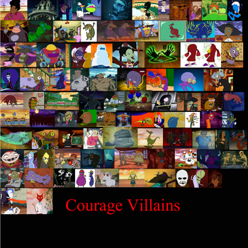 Courage villans by eileenmh123
