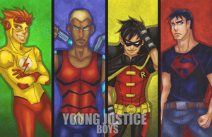 Young Justice Boys by frozentofu