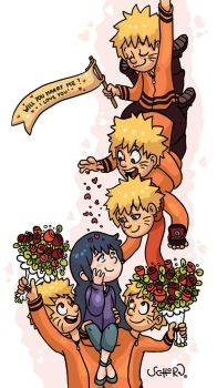 FanArt NaruHina Marry Me by IrisSchorn