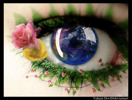 The eye of Mother nature by Valiant-Devil