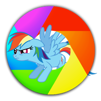 My first Rainbow Dash Google Chrome Icon, updated. by Flutterflyraptor
