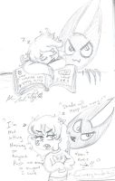Annie and Shade sleeping and mad by Kittychan2005