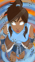 LoK: Korra in the Avatar State... by fyreflye26