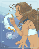 . kissing a sea dream . by sporkful-of-hearts