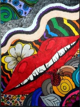 Psychedelic Lips by Bloody-Lady-of-Csejt