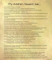 My children taught me.... by BeauNestor