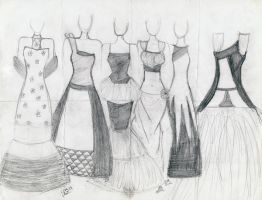 Variety of Prom Dresses by angrylilgirl