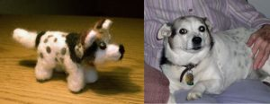 Needle Felted Dog by StCoraline