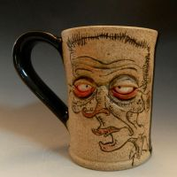 Illustrated and Sculpted Mug for SALE on Etsy by thebigduluth