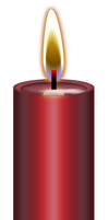 Red Metallic Candle Stock by Blood-Huntress