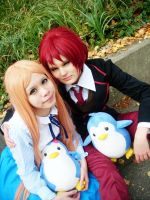 Mawaru Penguindrum : Himari and Kanba Cosplay by LalaxLajui