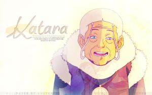 Legend of Korra Wallpaper: Katara by BecomingTia