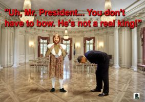 Obama Is Bowing Again by Elvis-Chupacabra