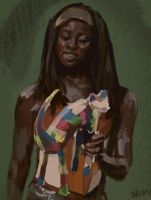Michonne cat / Walking Dead by TalaStrogg