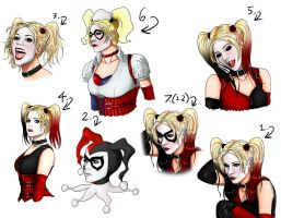 Avril Lavigne as Harley sketches by Art-Gem