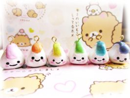 Rainbow Riceball Onigiri Charm by starberrycharms