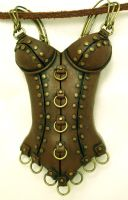 Athena mini corset necklace by wickedgems