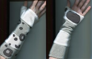 Snow Leopard Gloves (old) by Like-a-Surr