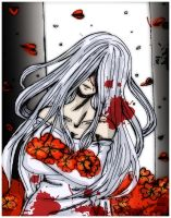 The red flowers... by Danielle-chan