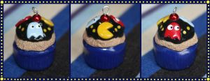 Pac-Man Cupcake Charm by citruscouture