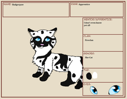 Badgerpaw ref! by Ask-Germany-Puppy