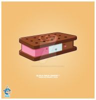 Kawaii Neapolitan Icecream Bar by KawaiiUniverseStudio