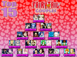 My Top 15 Fairy Tail Couples!! by StarfireGrace1998