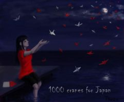 1000 cranes for Japan by Threa