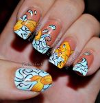 Koi Fish Nail Art by MadamLuck