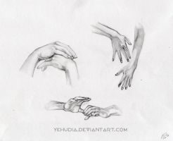 hands study by Yehudiah