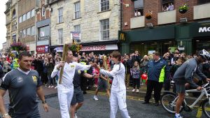 Olympic Torch Northampton July 2rd 2012 by hellonlegs