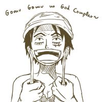 Luffy imitating Enel by GiddyGalley