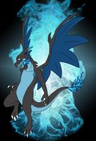 Mega Charizard X by WeirdoFish