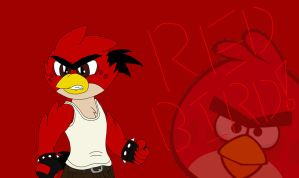 Red Bird Wallpaper by LizzietheRatcicle