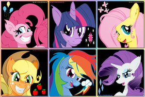 Mane Six by Big-Mac-a-Brony