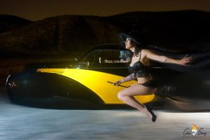 Witch vs. Warewolf Drag Racing by ImageConspiracy