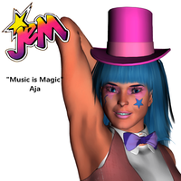 """""""Music is Magic"""" Aja from Jem in 3d 10 by Highwayhoss"""