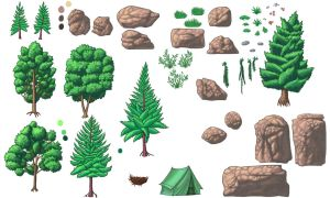 Forest Objects For My Own Game by alexmakovsky