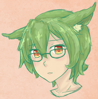 Teaser art for upcoming reference sheet - Midori by Kirbeee
