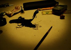 Spilled ink by avid