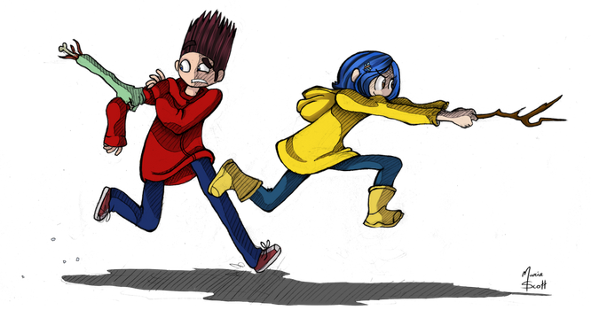 Norman and Coraline by HyperChronic